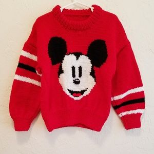 Vintage Handmade Mickey Mouse 🐁 Sweater 4-5T